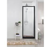 BD100.4111B Душевая дверь BRAVAT BLACK LINE 900х2000 Стекло 6мм easy clean