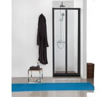 BD100.4121B Душевая дверь складная BRAVAT BLACK LINE 1000х2000 Стекло 5мм easy clean