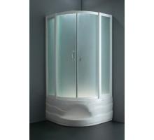 W75E-222A090WF Sense deep, душ уголок90х90см, профиль белый стекло матовое высокий поддон