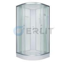 Душевая кабина Erlit ER3509P-C3 900*900*2150 низкий поддон, светлое стекло