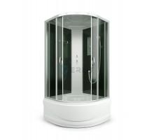Душевая кабина Erlit ER3509TP-C4 900*900*2150 высокий (СЕРЫЙ ПОДДОН), тонированное стекло