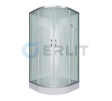 Душевая кабина Erlit ER3510P-C3 1000*1000*2150 низкий поддон, светлое стекло